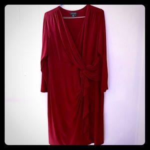 Ralph Lauren Burgundy Red Dress